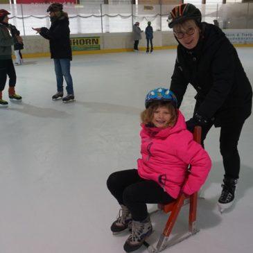 Eisbahnfahrt nach Lauterbach